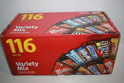 Mars VARIETY Mix 116 Mini Bars 1.7kg Box Milk Chocolate Bounty Twix M&M