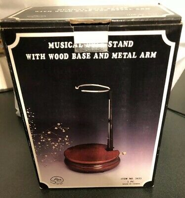Musical Doll Stand With Wood Base and Metal Stand - Item No 3433 - New in Box