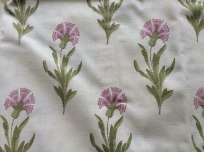 Laura Ashley..pair Mulberry Pink Thistle Print Oxford Pillowcases.
