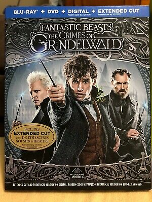 FANTASTIC BEASTS THE CRIMES OF GRINDELWALD (Blu-Ray/DVD/Digital, & Extended Cut)