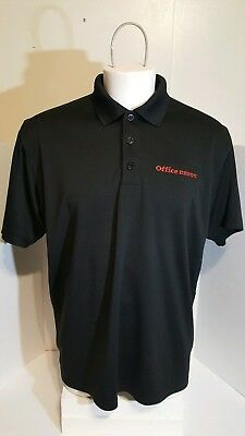 9a45dd6b OFFICE DEPOT men's golf polo shirt size Large s/s employee work uniform  VANSPORT
