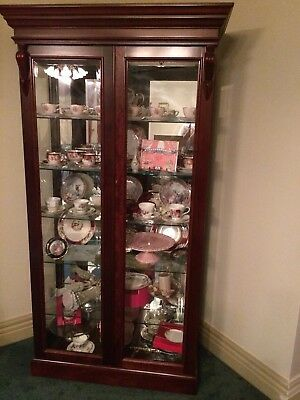 Antique Glass Hardwood Display Cabinet