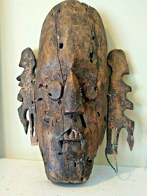 Old Indonesian Dayak Bahau Mask - BORNEO - Late 19th/Early 20th Century