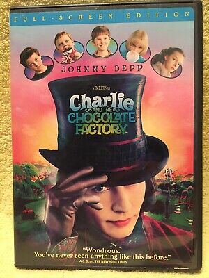 CHARLIE AND THE CHOCOLATE FACTORY [DVD] * Johnny Depp -- FREE SHIPPING!!!
