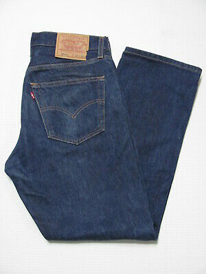 vintage 90s LEVI'S 501XX BUTTON FLY RED TAB DARK DENIM JEANS 32x30 fits (32x28)