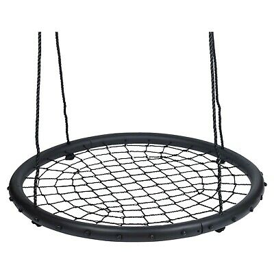 Giant Netted 100cm Disc Swing Seat Children Crows Nest Basket Outdoor Spider Web