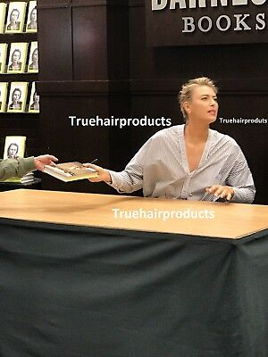 Unstoppable: My Life So Far By Maria Sharapova Signed Book In Person on 9/15/17