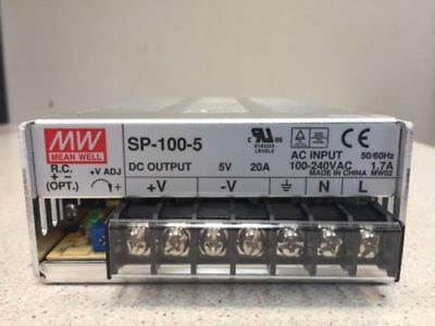 Mean Well Bloc d'alimentation SP-100-5 100W 5V
