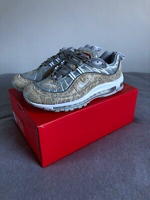 buy popular 4fd7c 1c311 Nike Air Max 98 X Supreme Snakskin Size UK 9.5