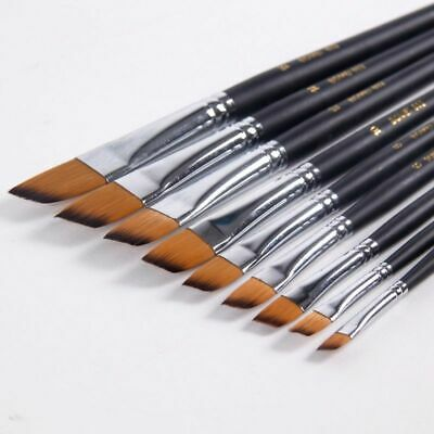 Brush Painting For Art Supplies Children 9pcs Nylon Acrylic Oil Wood Acrylic Pen