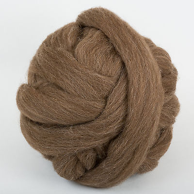 *Brown Combed *GENUINE BRITISH SHETLAND FLEECE*1, 2, 4, 8 oz lb wool.tops.roving