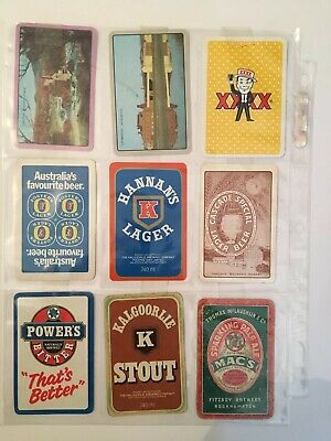 FITZROY BREWERY ROCK HAMPTON PLAYING CARD Plus 8 Other Different Cards