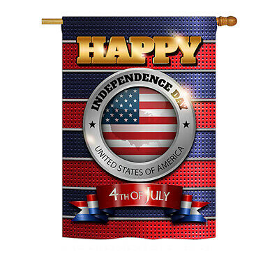 Happy Independence Day - Impressions Decorative House Flag Set - HS111080-BO