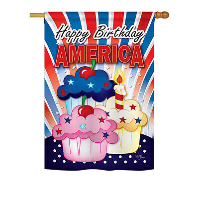 American Cupcake - Impressions Decorative House Flag Set - HS111052-BO
