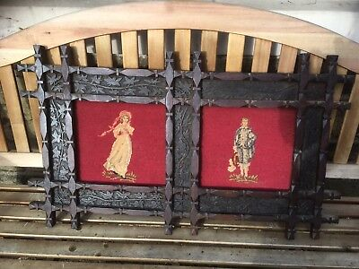 Antique Vintage Tapestry - Arts And Crafts Frame Dated 1904 Religious