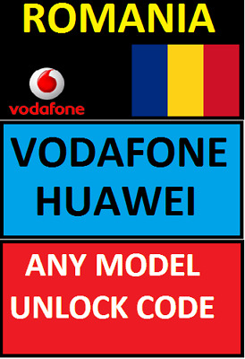 Unlocking Code Romania Vodafone Any Huawei & P10 P8 Psmart P20 P30 Pro Y5 Y6 Lit