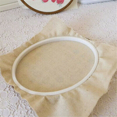 Wooden Cross Stitch Machine Embroidery Hoop Ring Bamboo Sewing Craft Kit 12PCS