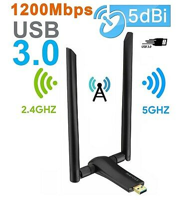 Antenna WiFi PC Chiavetta Wireless 1200 Mbps USB 3.0 Dongle per Notebook Laptop