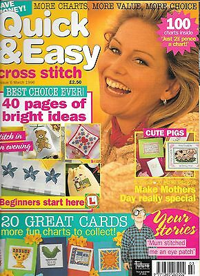 Quick & Easy cross stitch magazine -  Issue 6 March 1996.
