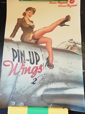 World War ll Sexy Girl Nostalgic Newspaper Poster Kraft Paper