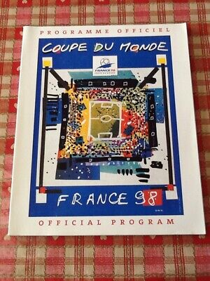 Official Tournament Programme 1998 Football FIFA World cup France 98