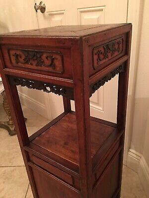 Early 19th Century Chinese Scholar Stand Two Drawers & Large Secret Compartment