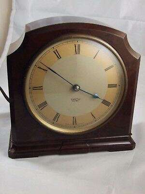 Antique Art Deco SMITH SECTRIC Bakelite Mantle Clock Made in England c.1930's