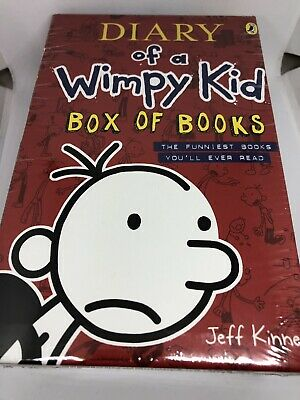 Diary of a Wimpy Kid Box of Books by Jeff Kinney New And Sealed Books 1-4