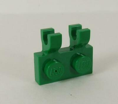 Lego Green 1x2 Plate with Horizontal Clips 60470 x10 *BRAND NEW* City