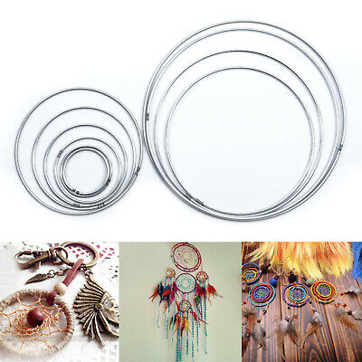 10Pcs/Pack 45-190mm Metal Dream Catcher Dreamcatcher Ring Macrame Craft Hoop #I1