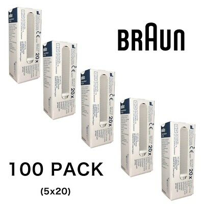Braun ThermoScan IRT4520 6020 6500 6520 Replacement Lens Probes Filter Caps x100