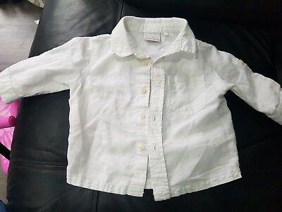 Next kids baby white linen cotton shirt 3-6 months