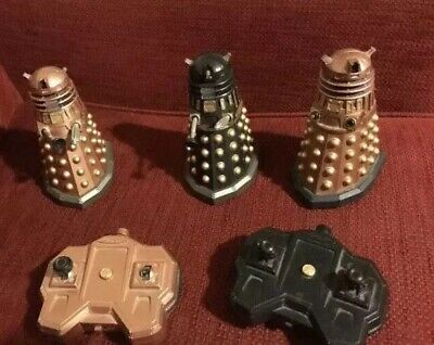 Doctor who darlek figures remote control bundle spares or repairs X 3 Dr Who