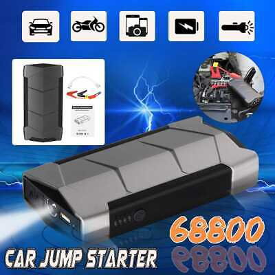 Mini Portable Car Jump Starter 12V 68800mAh Power Bank Battery USB Charger SOS