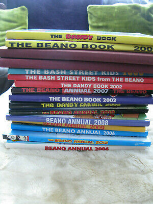 Collection Of 16 Beano BASH STREET KIDS And Dandy Books/Annuals