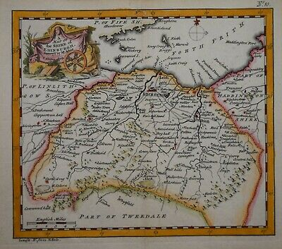 Scotland - A Map Of The Shire Of Edinburgh By T. Kitchin, 1749.