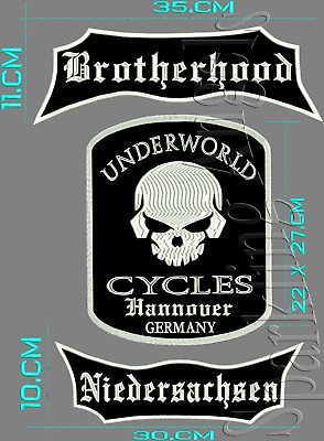 Brotherhood Niedersachsen  UNDERWORLD CUCLES  Hannover GERMANY RÜCKENPATCH.