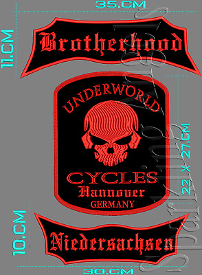 Brotherhood Niedersachsen  UNDERWORLD CUCLES  Hannover GERMANY RÜCKENPATCH