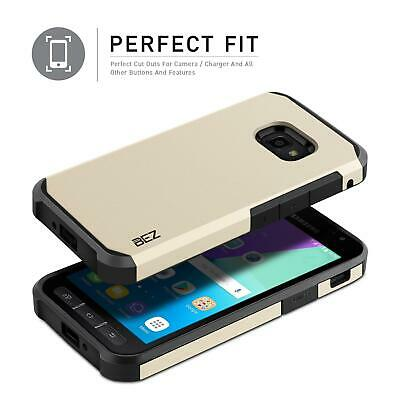 Samsung Galaxy Xcover 4 Case Heavy Duty Shockproof Cover Gold Shock Absorbing UK