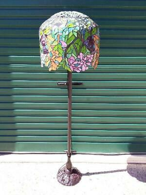 Gorgeous New Art Deco Tiffany Floor Lamp With Leadlight 'Tulip'  Shade