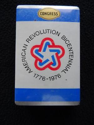 Vintage 1970s Congress Playing Cards - The American Revolution Bicentennial 1976
