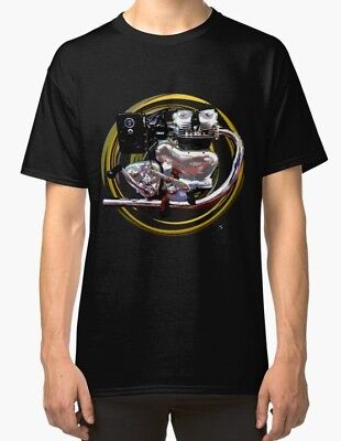 Royal Enfield Meteor Twin engine Vintage Motorcycle T Shirt INISHED Productions