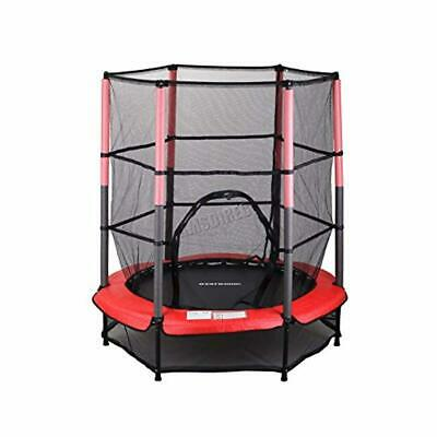"WestWood NEW Mini Trampoline 4.5FT 55"" with Safety Net Enclosure Indoor Outdoor"