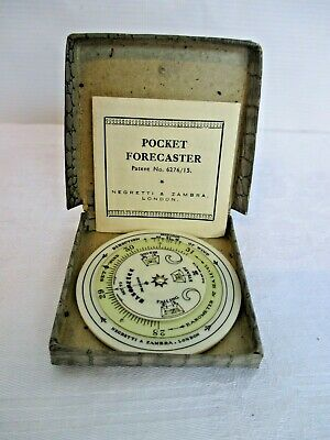 Negretti & Zambra Pocket Weather Forecaster In Original Box And Instructions