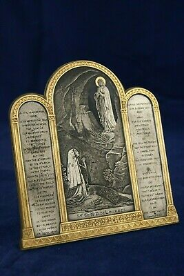 † Bvm Our Lady Of Lourdes Bernadette Soubirous Triptych Miraculous Story France†