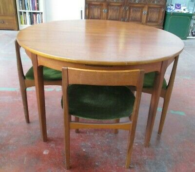 Mid Century Round Table And Chairs By Nathan