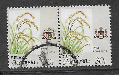 Malaysia, Melaka Used Stamps - Pair Used Definitive Stamps 1986 Agriculture