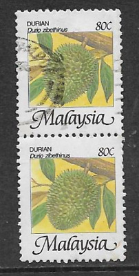 Malaysia Used Stamps - Vertical Pair Used Definitive Stamps 1986 Tropical Fruits