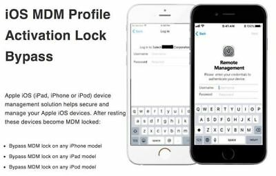 APPLE MDM BYPASS IPHONE / IPAD / IPOD 100% -all iOS 12.1.x Supported