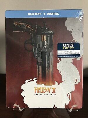 Hellboy II: The Golden Army Steelbook (Blu-ray, Digital HD) FACTORY SEALED